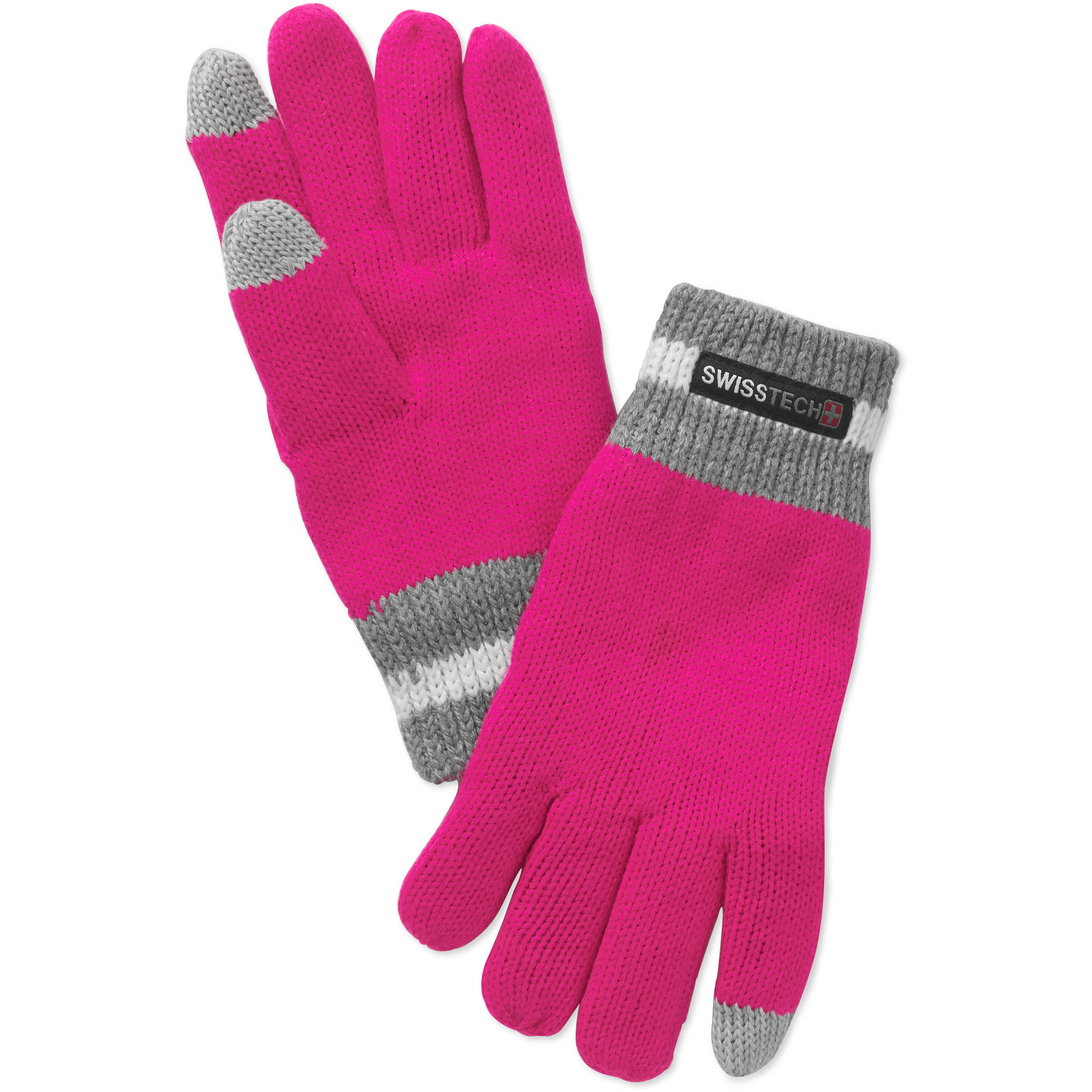 Swiss Tech Girls' Knit Glove With Texting