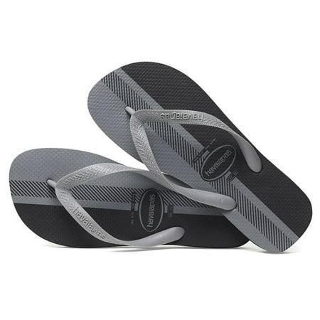 Havaianas Mens Top Conceitos Sandal Flip Flop - Black/Ice Grey - 39 BR Born Mens Sandals