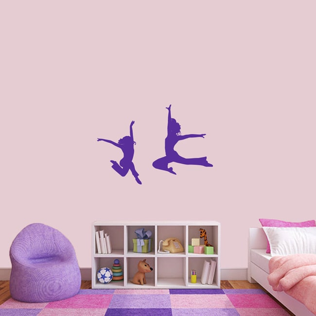 Dancer Silhouettes Medium Wall Decal Set BASIC BLUE