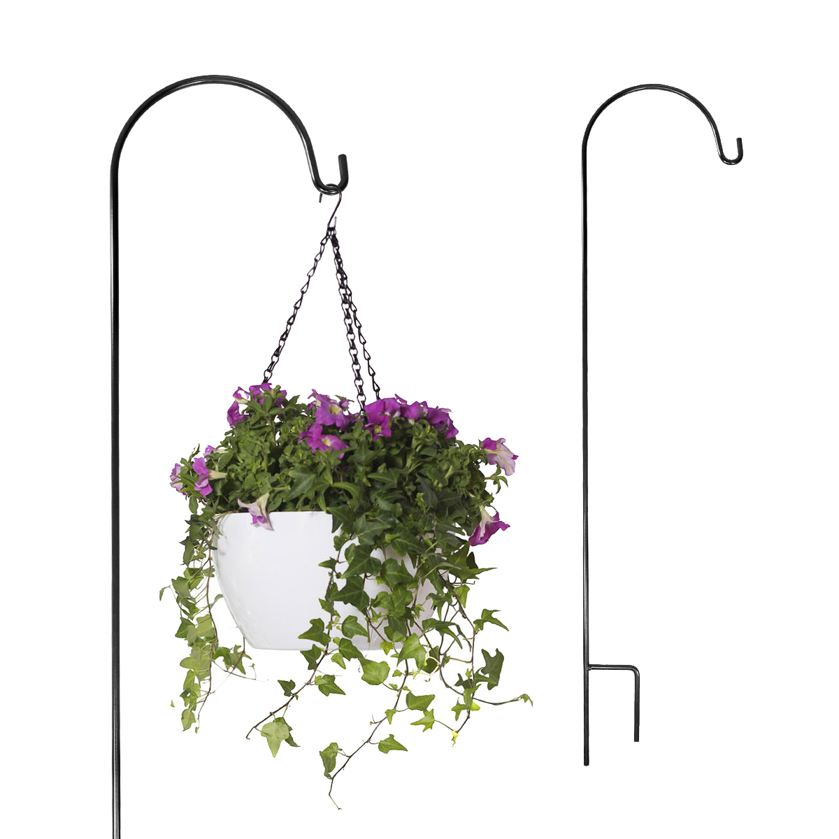 2 Brinkman Shepherds Hooks Hangers For Gardens Plants Yards Chimes Lawns Feeders
