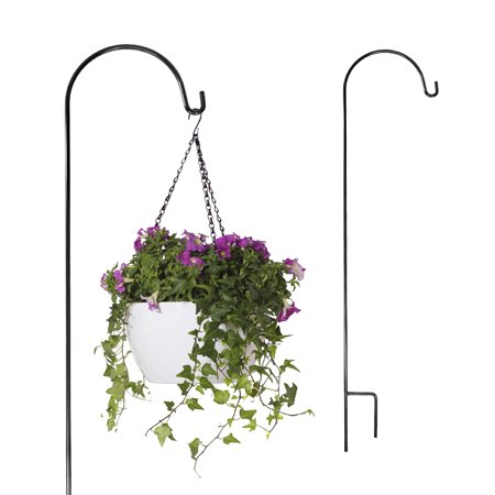(2 Brinkman Wrought Iron Shephards Hooks Hangers For Gardens Plants Yards Chimes Lawns Feeders Shepherds)