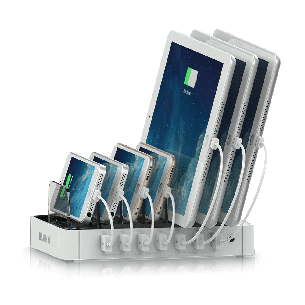 Satechi 7-Port USB Charging Station Dock for iPhone 6 Plus 6 5S 5C 5 4S, iPad Pro Air Mini 3 2 1, Samsung... by CN