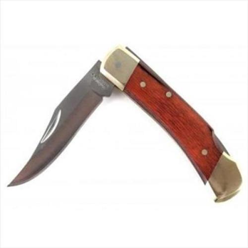 LB5CP Schrade Uncle Henry Rose Wood Smokey Pocket Folding Knife w/ Sheath