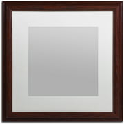 Trademark Fine Art Heavy Duty 16x16 Wood Picture Frame With 11x11 White Mat