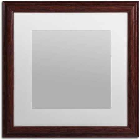 Trademark Fine Art Heavy-Duty 16x16 Wood Picture Frame with 11x11 White Mat