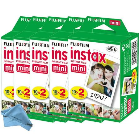 100 Prints Fujifilm instax Mini Film w Cloth, 25 50s 7s 8 9 90 & 300 Mini Camera, EXP