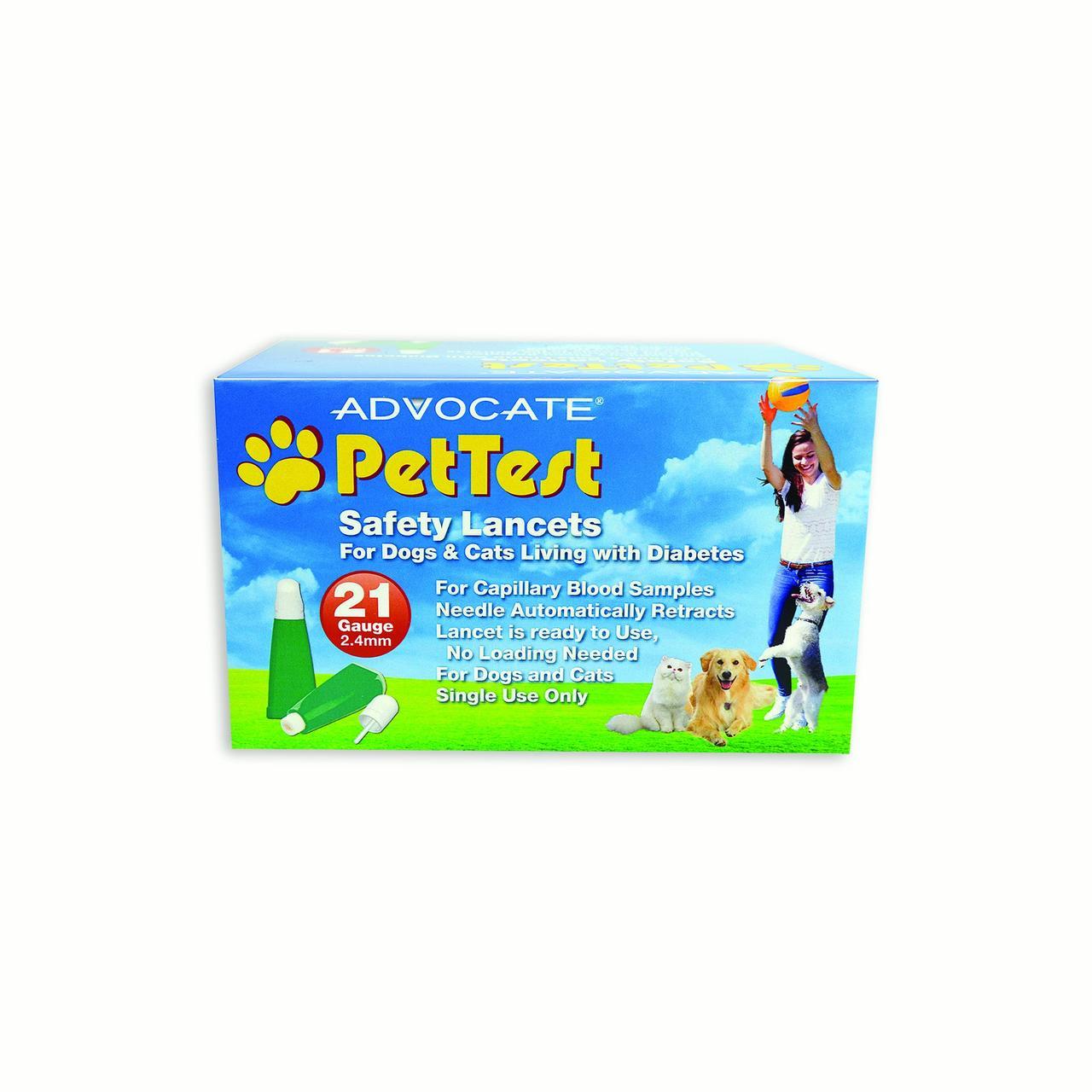 Advocate PetTest Twist Top Sterile Lancets Dog & Cat Supplement, 100 Ct