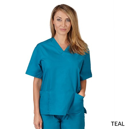 76308c28212 M&M SCRUBS Unisex Two Pocket Scrub Top Medical Scrub Top - image 1 ...