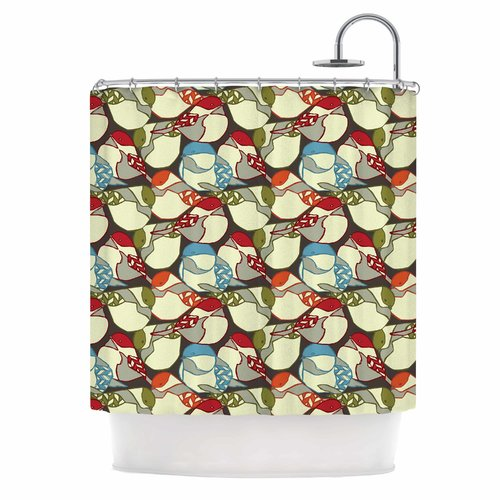 East Urban Home Chickadees by Amy Reber Shower Curtain