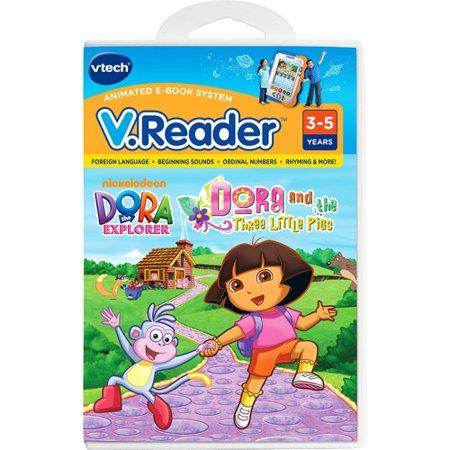 Vtech V.Reader Animated E-Book Reader - Dora