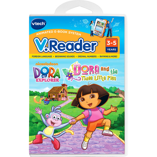 V.Reader Animated Cartridge - Dora and  the Three Little Pigs