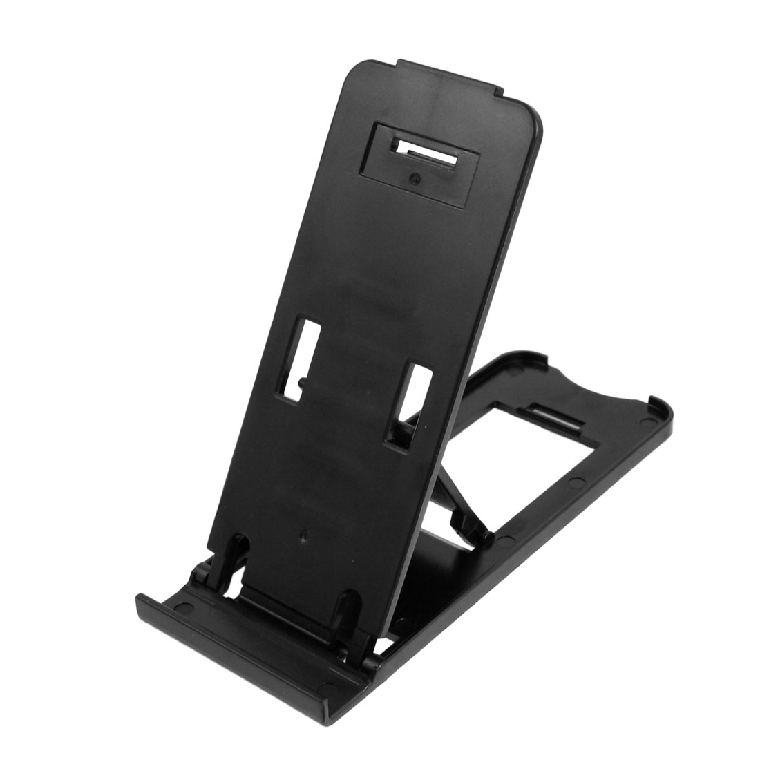 Unique Bargains Black Plastic Foldable Stand Holder for iPhone iPad