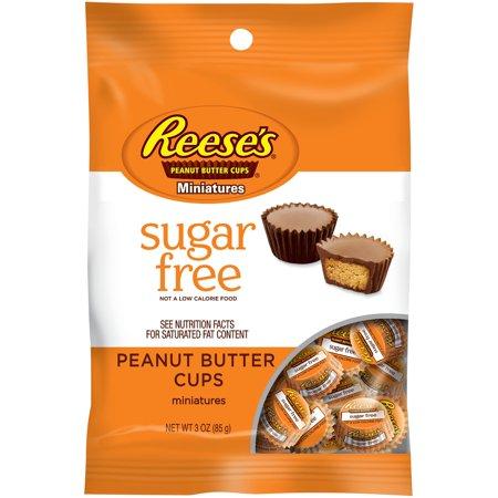 Reeses, Milk Chocolate Peanut Butter Cups, Sugar-Free Miniatures, 3 Oz