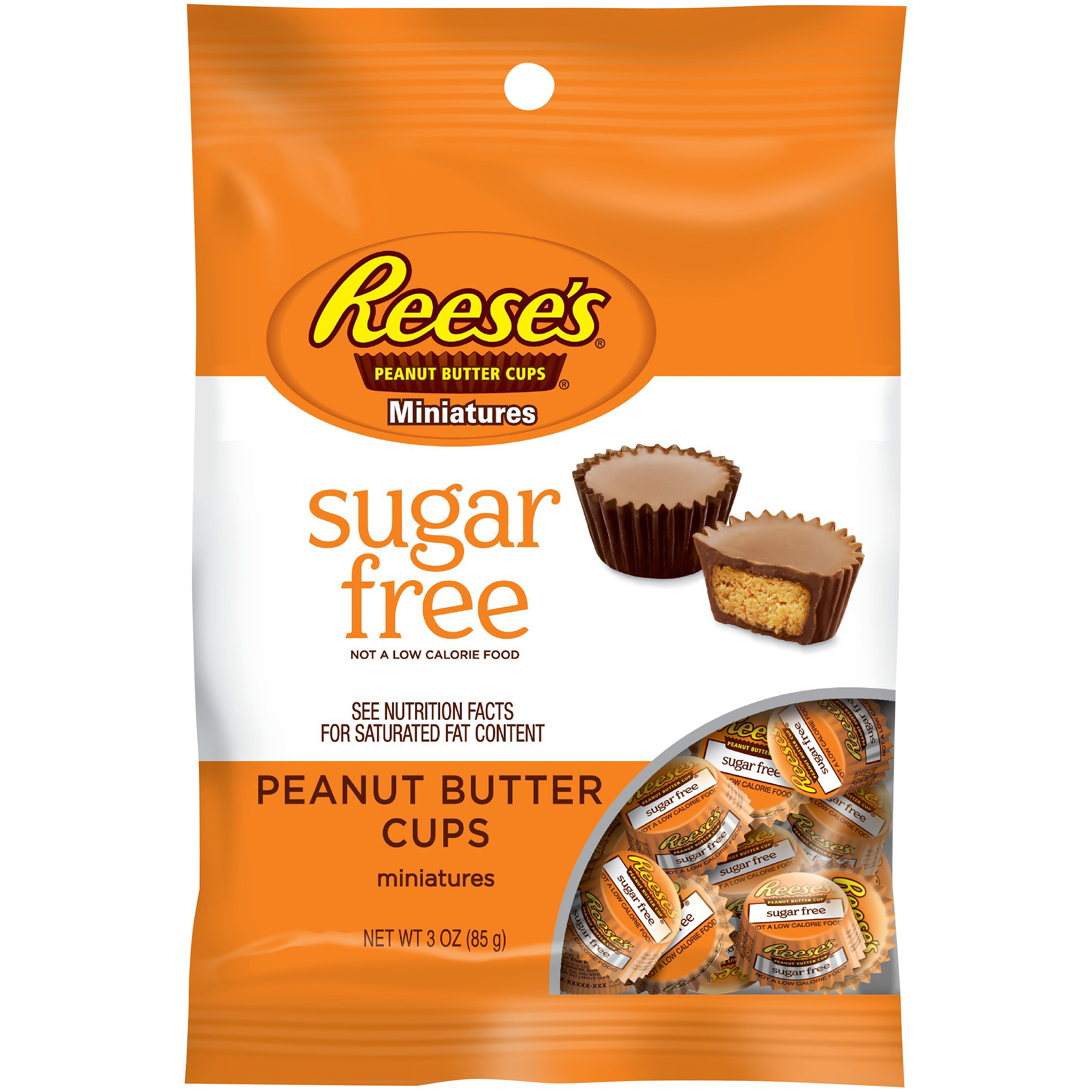 REESE'S SUGAR FREE Peanut Butter Cups Miniatures, 3 oz