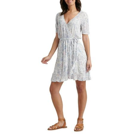 Floral Sheath Wrap Dress ()