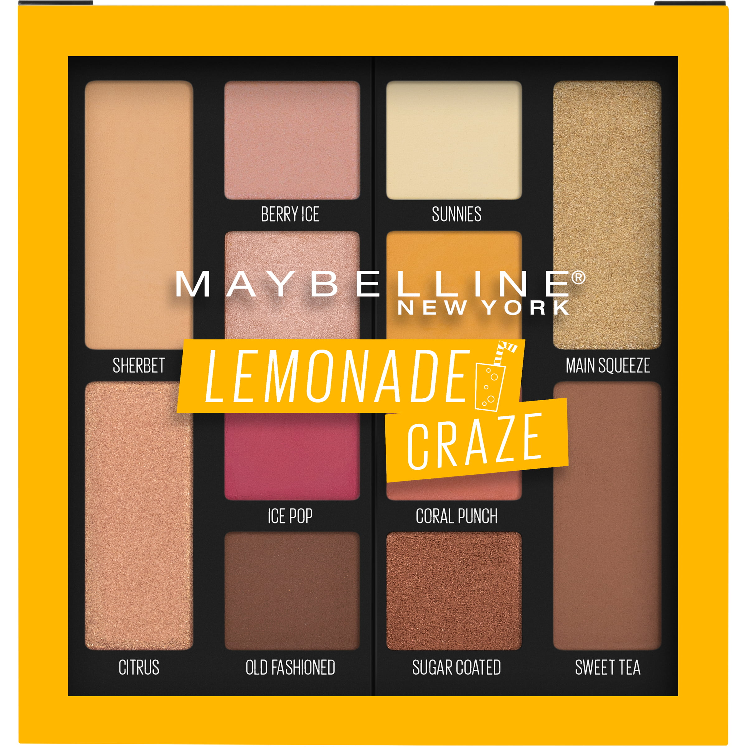 Maybelline Lemonade Craze Eyeshadow Palette Makeup, Lemonade Craze, 0.26 oz.