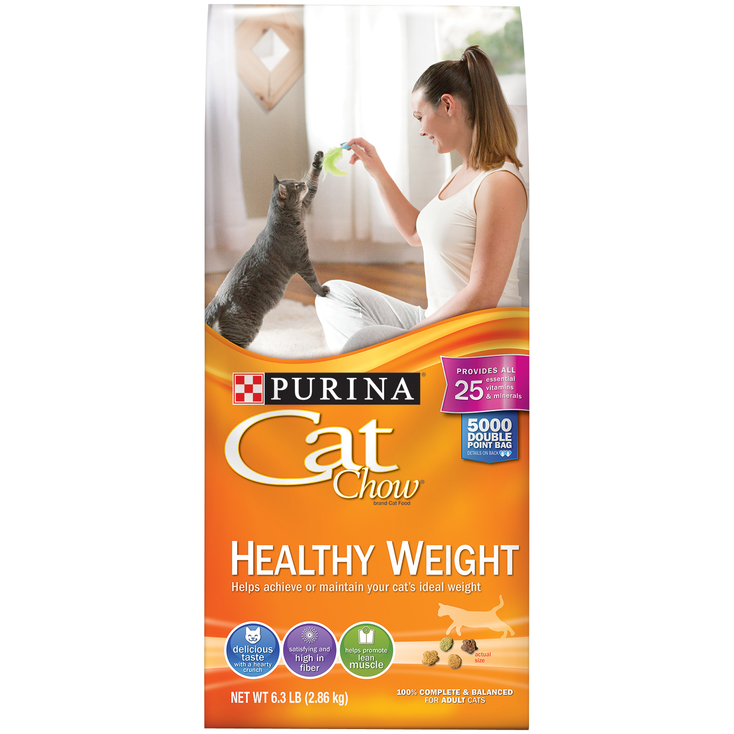 Purina Cat Chow Healthy Weight Cat Food 6.3 lb. Bag