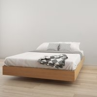 Nexera Kabane Queen Size Platform Bed, Natural Maple