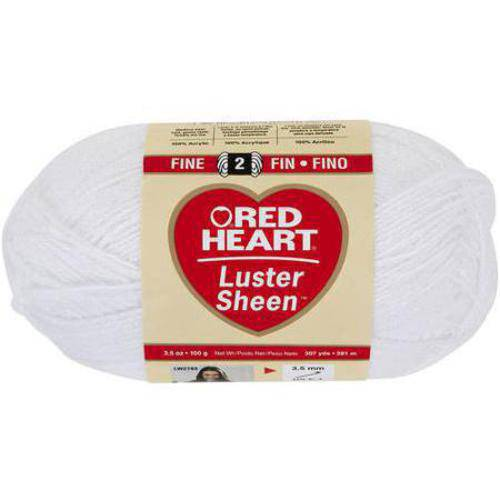 Red Heart Luster Sheen Yarn, Available in Multiple Colors