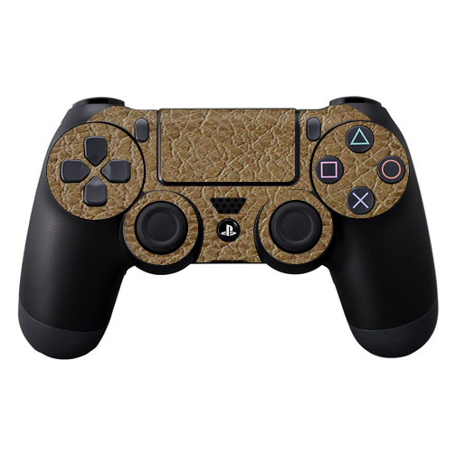 Protective Vinyl Skin Decal Cover for Sony PlayStation DualShock 4 Controller wrap sticker skins Sandalwood Leather