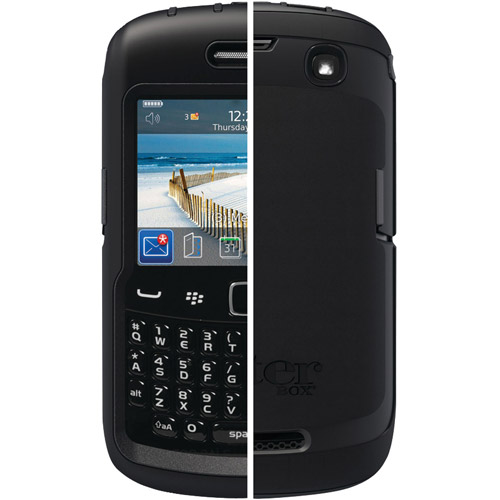 OtterBox - Defender Hybrid Case and Holster for BlackBerry Curve 9350/9360 Cell Phones - Black