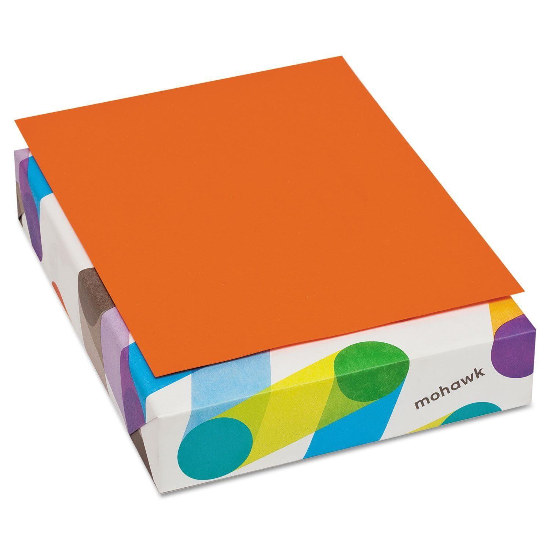 Mohawk BriteHue 8.5 x 11 Orange Paper 20lb Writing 500/Ream (472608)