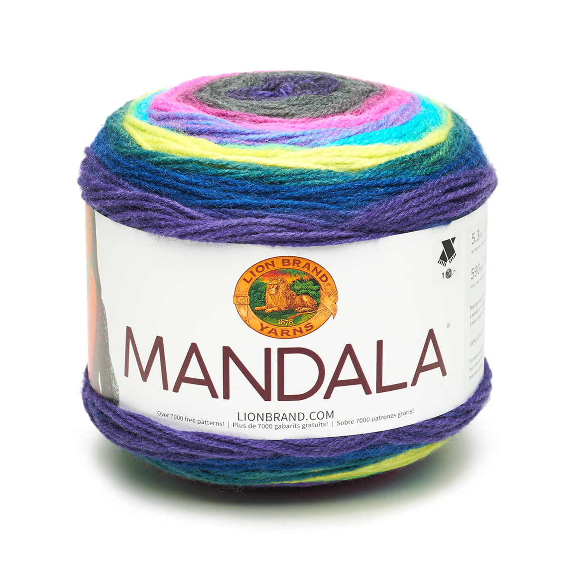 Lion Brand Yarn Mandala Fashion Yarn 590 Yd Walmart Inventory