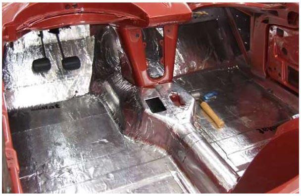 1968-1975 Corvette C3 Foil-Backed Sound Deadener Coupe Complete Set