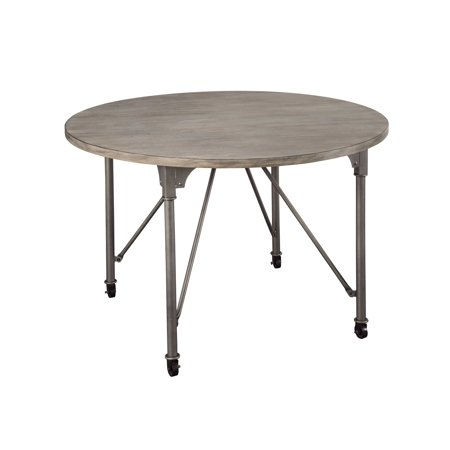Dining Table In Gray Oak And Sandy Gray - Ash Wood Veneer, Mdf, Steel