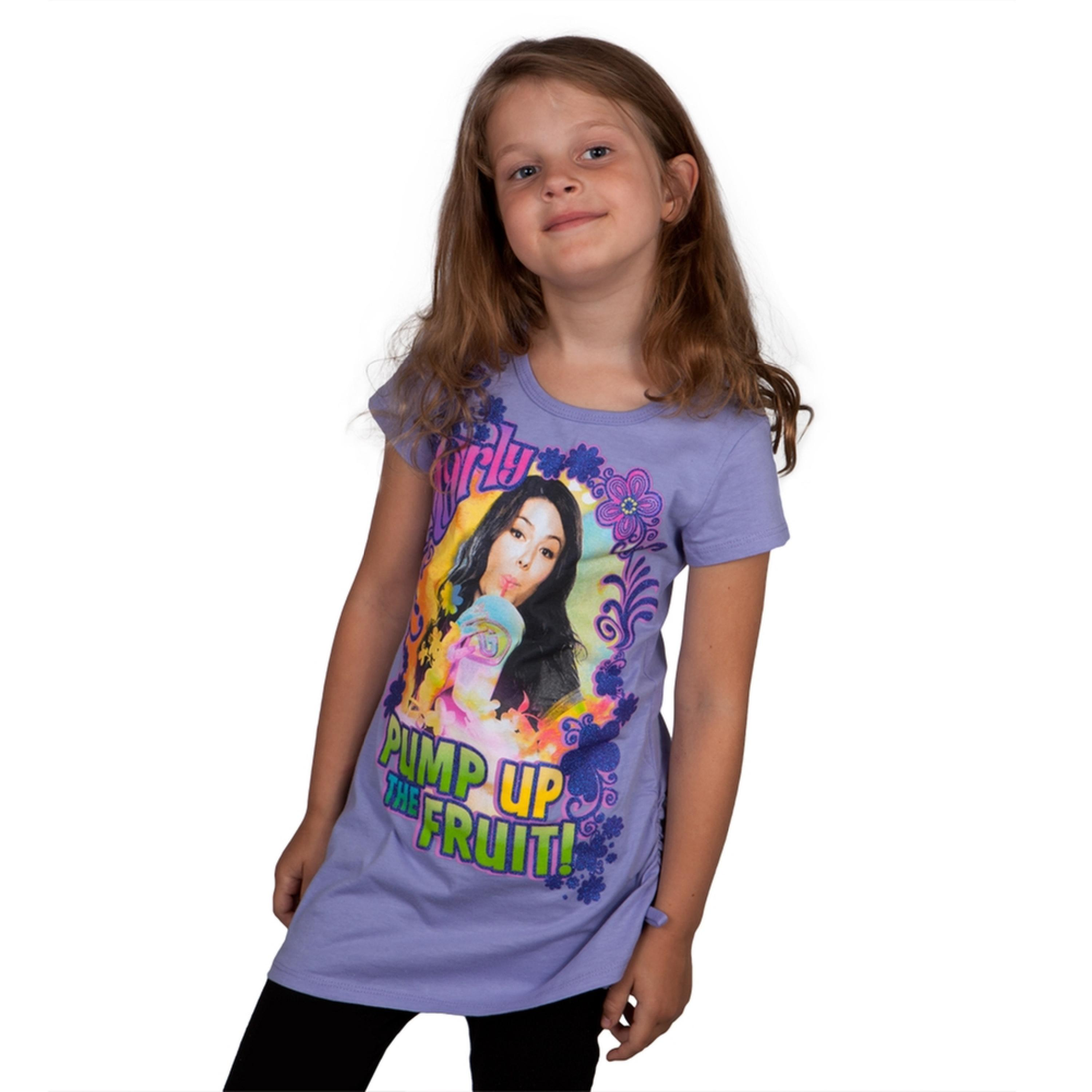 iCarly - Pump Up The Fruit Girls Youth T-Shirt