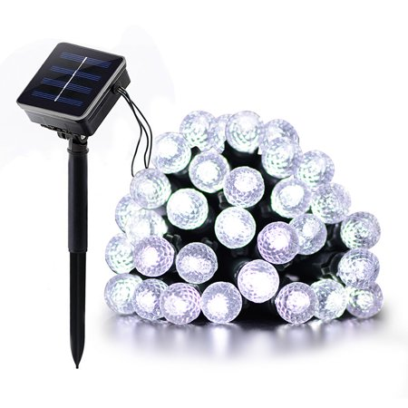Clearance! 7m 50Leds Christmas LED Solar String Lights Diamond Bubble Shaped Wedding Xmas Fairy Party Outdoor Decor Led String](Outdoor Wedding Decor)