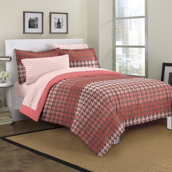 Loft Style Houndstooth Bedding