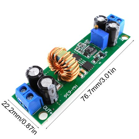 HW636 Voltage Converter 60V 48V 36V 24V to 19V 12V 9V 5V 3V Adjustable Step-down Power Supply Buck Stabilizer Regulator Module - image 2 de 8