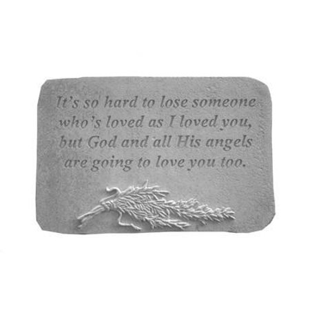 It'S So Hard To Lose...W/Rosemary Memorial Garden Stone
