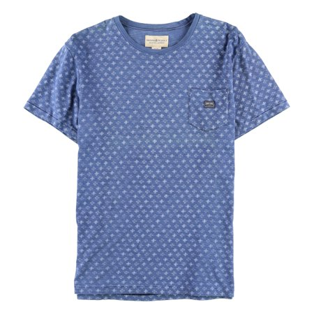 Ralph Lauren Mens Geometric Cotton Basic T-Shirt, Blue, Large