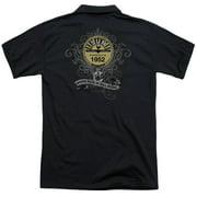 Sun Rockin Scrolls (Back Print) Mens Polo Shirt