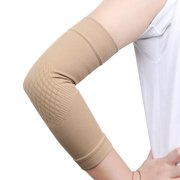 1 Pair Size S Skin Color Elastic Warm Elbow Support Compression Sleeve Arms Joint Protector Band for Sports