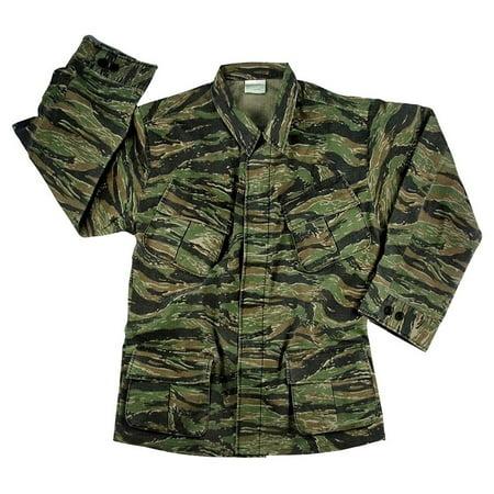 Rothco Vintage Vietnam Fatigue Shirt Rip-Stop - Tiger Stripe Camo, 3X-Large