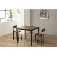Boraam Americano 3 Piece Counter Height Dining Set - Natural Finish