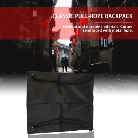 Premium School Drawstring Duffle Bag Sport Gym Swim Dance Shoe Backpack - image 7 of 9
