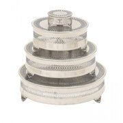 A Nation 23944 Metal Cake Plate, Set of 4
