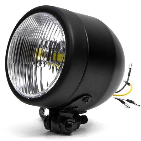 "Krator 4.25"" Mini Headlight w/ High and Low Beam + Fog Lights LED Bulb Black Housing for Yamaha Virago XV 250 500 535 700 750 920 1100 - image 8 of 8"