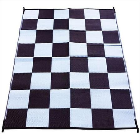 Fireside Patio Mats Racing Checks Checkered Flag Polypropylene Indoor Outdoor Re