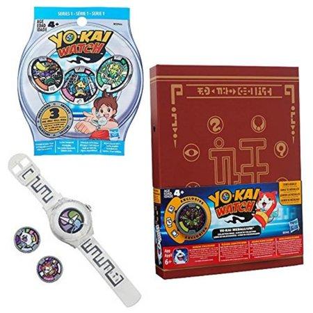 Yo-kai Watch Bundle INCLUDES Yo-kai Season 1 Watch, Yo-kai Medallium Collection Book and Series 1 Medal Mystery Bag
