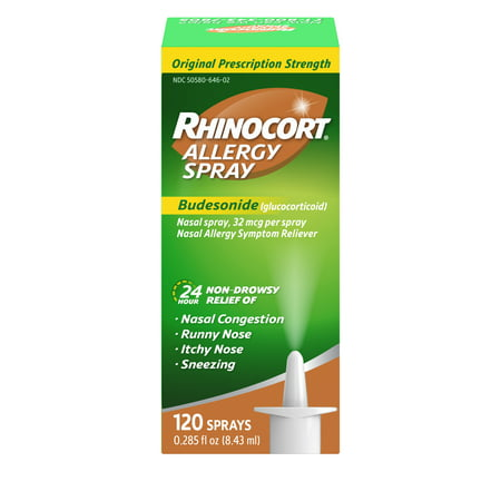 Rhinocort 24 Hour Allergy Relief Budesonide Nasal Spray, 120 Sprays