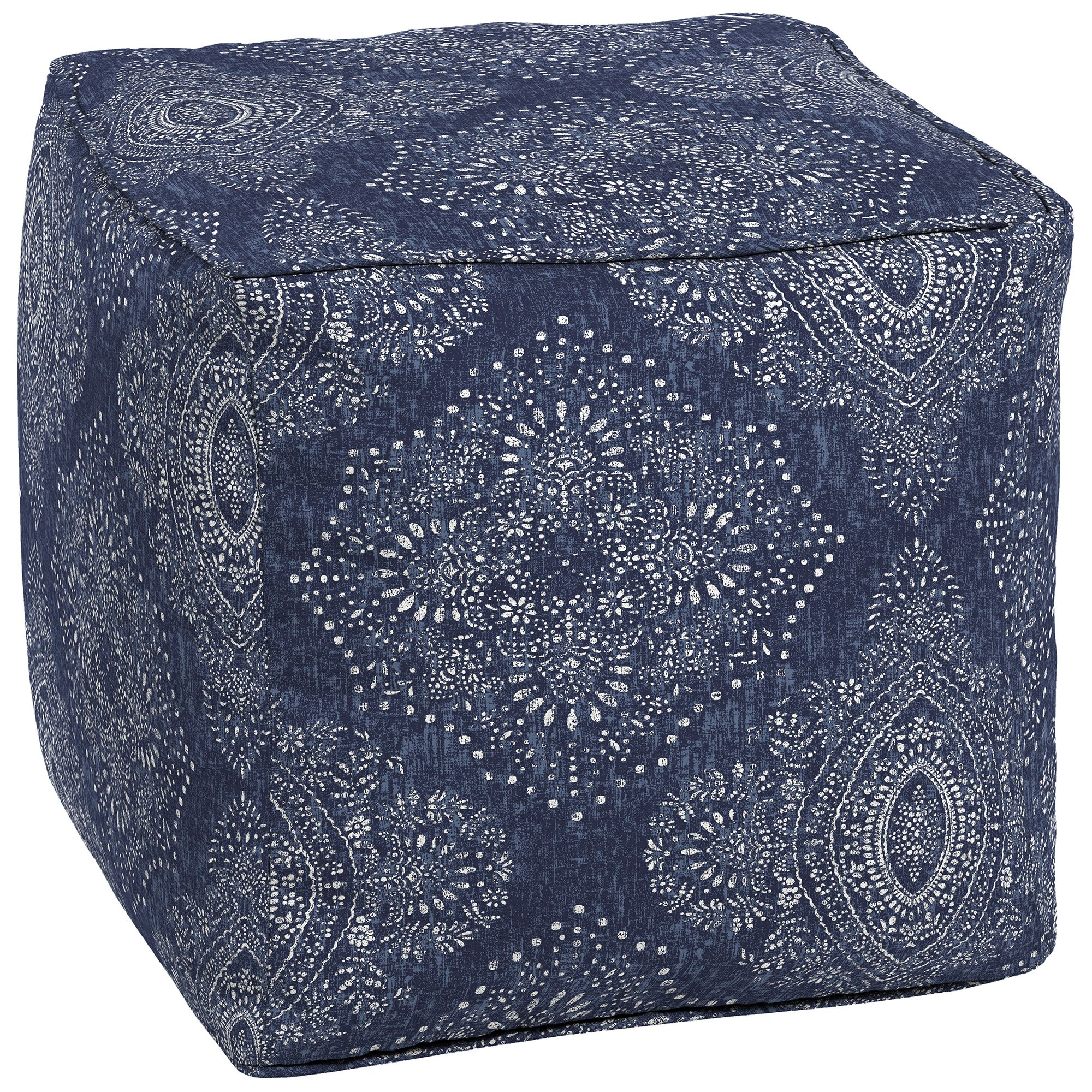 Better Homes And Gardens Pointelized Ogee Outdoor Outdoor Pouf by Better Homes & Gardens