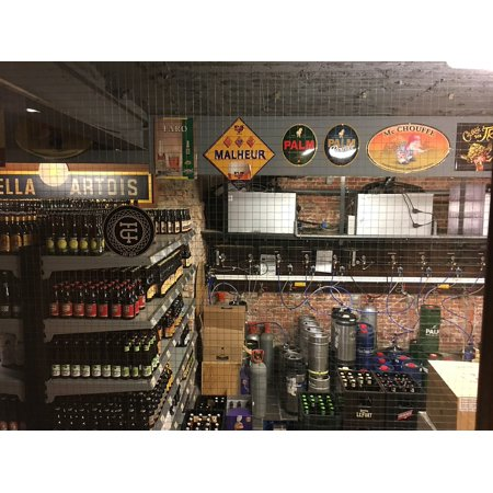 Beer Storage - LAMINATED POSTER Alcohol Storage Beer Cellar Pub Beverage Drink Poster 24x16 Adhesive Decal