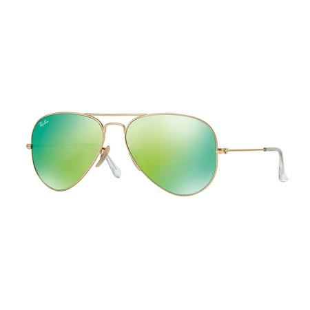 Ray-Ban RB3025 Classic Aviator Sunglasses, 58MM, Flash (Ray Ban Gold Mirror Aviator)