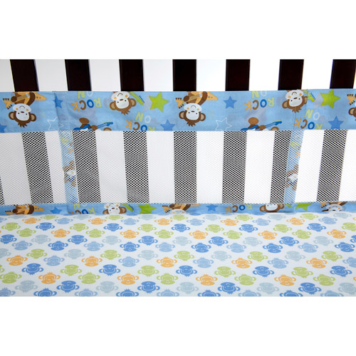 Little Bedding by NoJo Born to Rock Crib Liner