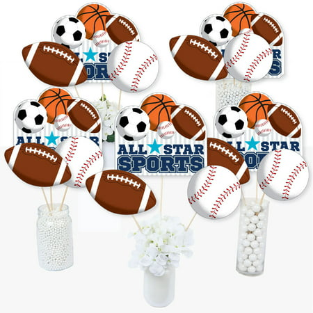 Go, Fight, Win - Sports - Baby Shower or Birthday Party Centerpiece Sticks - Table Toppers - Set of 15](Birthday Table Centrepieces)